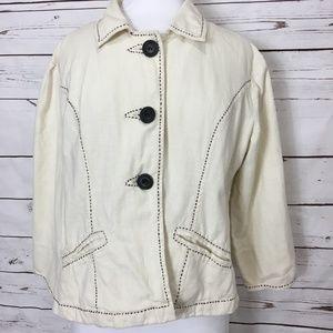 Life Style White Jacket Medium Cotton Light Weight